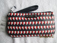 """Womens Accessories Nine West Wristy Wallet Red White Blue Hearts 9.75""""x5"""" NewTag"""