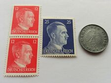 Rare Nazi Germany swastika coin and hitler stamp set ww2 third reich world war 2
