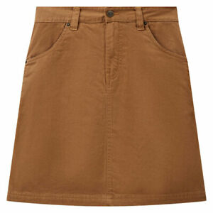 Dickies Shongaloo Ladies Fashionable Casual Wear Skirt Duck Brown