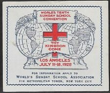 Usa Poster stamp: 1928 World's 10th Sunday School Convention, La - dw369