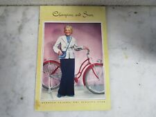 #1  Vtg Pre-War Old Bicycle 1930's Bike Literature Brochure Hollywood Stars Book