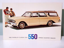 1963 Rambler Classic Six 550 Cross Country Wagon! Vintage Advertising Card!
