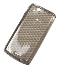 Housse Etui Coque Silicone Gel Noir Diamand ~ Sony Ericsson Xperia X12 Arc