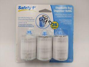 Safety 1st Disposable Diaper Bag Dispenser Refill Rolls (3pk)