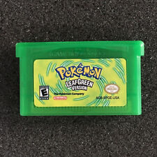 Pokemon Games Card Leaf Green Versions for Pokemon GBA GameBoy Kids Adult Gift