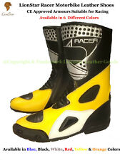 Lionstar Racer Motorbike Motorcycle Leather Racing Shoes CE Approved Armours