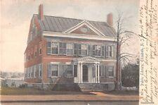 New Jersey postcard Elizabeth Public Library ca 1906 handcolored