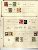 Hungary 47 stamps used vf 5 pages 1888-19138 from an old scott album