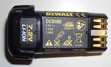 Dewalt Pila dcb080 Li-Ion 7,2V DCB 080 para dcf680 DCF 680