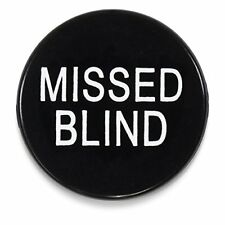 """1.25"""" Engraved Missed Blind Poker Button White by Brybelly"""