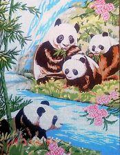 """Needlepoint tapestry canvas.Pandas 45x60cm (17.5x23.5"""") Gobelin 14.821"""