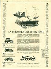 Publicité ancienne automobile Ford 1925 issue de magazine