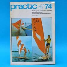 DDR practic 4/1974 Brettsegeln Kindermöbel Buchrestauration Zwischendecke Z