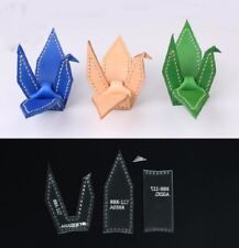 Keyring Key Chain Template Acrylic Pattern Leather craft DIY Japanese Origami S3