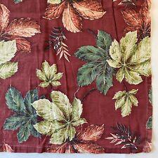 Vintage Foliage Covered Maroon Barkcloth