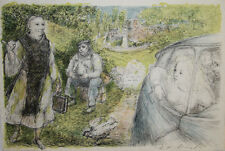Lucien Philippe MORETTI- Lithographie signée-Le braconnier de Dieu, planche 11