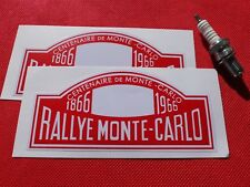 Pair of Rallye Monte Carlo stickers