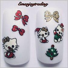 NAIL Art 3d Decalcomanie/Adesivi Natale Hello Kitty ble938d #169