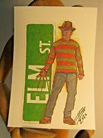 FREDDY KRUEGER  ACEO Print Card By Phil Born Nightmare Elm Street horror