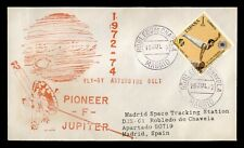 DR WHO 1972 SPAIN SPACE PIONEER F SATELLITE MADRID CANCEL  179481