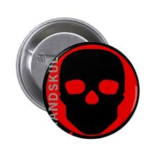 Handskull Button Liv 3.2cm pin back badge button (UK)  REAL NICE!