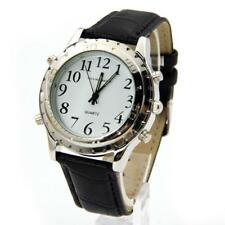 New Digital English Talking Watch Leather Strap For Blind Person or the AE