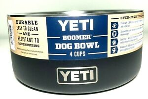 YETI Boomer 4 Cup Stainless Steel Non-Slip Dog Bowl Holds 32 Ounces Black Pets