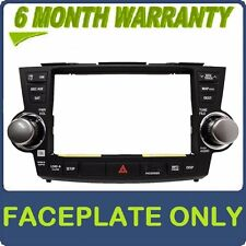 New 11 12 13 E7033 Toyota Highlander Jbl Navigation Radio Faceplate Replacement