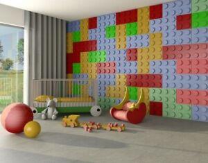 LEGO 3D MODERN UPHOLSTERED WALL PANELS HEADBOARD PLUSH VELVET