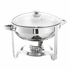 Round 5L Chafing/BUFFET/PARTY Dish or FOOD WARMER By Uk Brand SQ Professional