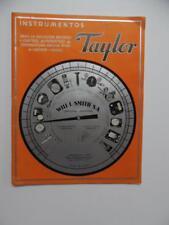 c.1940 Taylor Instrument Co Export Catalog Thermometer Gauge Vintage Original