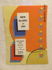 1959 Program New Blades Ice Skaters Youth Skating Evansville IN Many Names & Ads