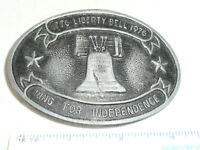 1776 TO 1976 LIBERTY BELL   BELT BUCKLE