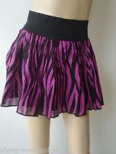 ☆ señoras Black/purple Corto Mini Falda Uk 6 de la UE 34 ☆