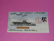 WWII FDC USS HORNET Launches B25B Bombs * 4/18/1942 * 69th Anniversary