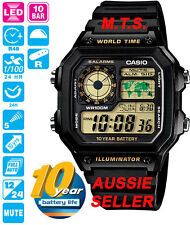 CASIO WATCHES AE-1200WH-1BVD AE1200 AE1200WH 12 MONTH WARRANTY