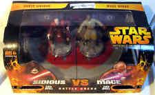 Star Wars Battle Arena Set Darth Sidious Vs. Mace Windu Figures ROTS MIB Slide