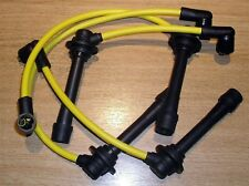 HT leads, spark plug ignition lead set yellow Mazda MX5 1.6 1.8 mk1 & mk2 89-05