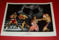 Frank BRUNO britannique légende de la boxe signé montage photo 16x12 pouces COA EPS AFTAL