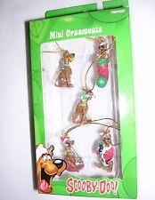 5 Christmas/Holiday Mini Ornaments by Trevco. Scooby-Doo! SD Cartoon Network WB