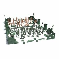 Plastic Military Playset Toy Soldier Army Men Playset Kit Set Action Figures