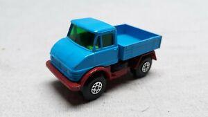 Vintage Lesney Matchbox No.49 Superfast Blue Mercedes Unimog Die Cast Toy Truck