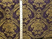 Chenille Renaissance damask Home Decor Upholstery, purple Sold By the Yard 58""