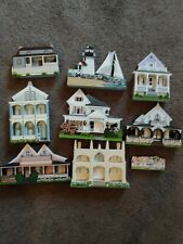 Lot Of 9 Collectible's Sheila's Shelf House including the Wedding Cake house