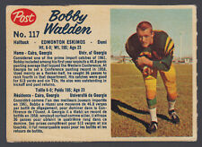1962 POST CFL FOOTBALL #117 BOBBY WALDEN EX+ EDMONTON ESKIMOS UNIV OF GEORGIA