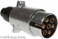 12N 7 Pin Aluminium Plug Car Trailer Caravan Towing Towbar Adapter Professional