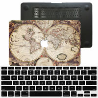 World map painted hard shell case keyboard cover for macbook pro the world map painted rubberized hard case cover for macbook pro air 11 12 13 15 gumiabroncs Choice Image