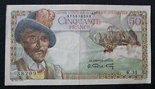 Outre-mer - Billet de 50 Francs Caisse centrale d'outre-mer (Esnambuc) TTB/TTB+