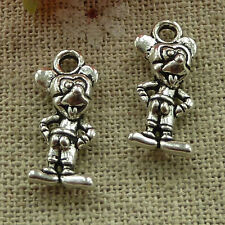 free ship 300 pieces tibetan silver Mickey Mouse charms 19x8mm #3355