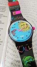 Swatch MusiCall SLB101 Europe In Concert - Alarm Watch Music by J.-M. Jarre NEW